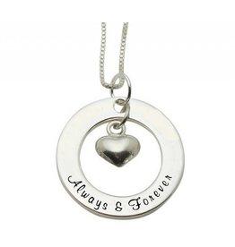 KAYA sieraden Zilveren ketting 'Always & Forever'