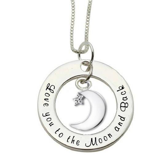 KAYA sieraden Zilveren ketting 'Love you to the Moon & Back'