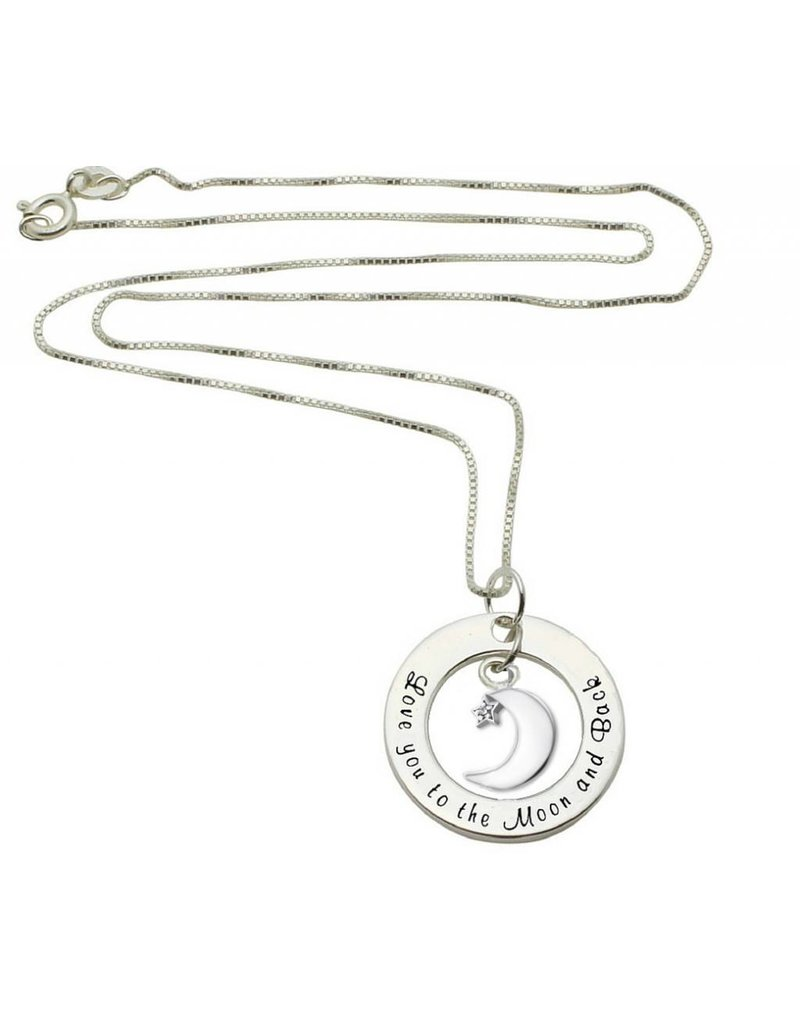 KAYA sieraden Zilveren ketting 'Love you to the Moon & Back'