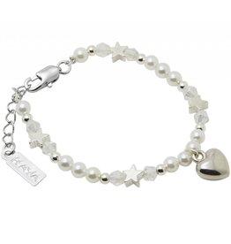KAYA sieraden Children bracelet 'Little rounds' with heart