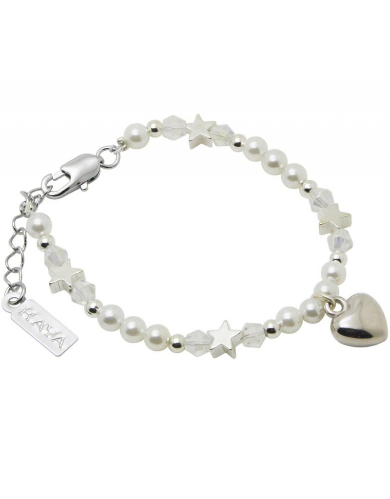 Children bracelet 'Little rounds' with heart