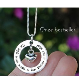 "Silver necklace ""My mom happens to be the dearest ' - Copy"