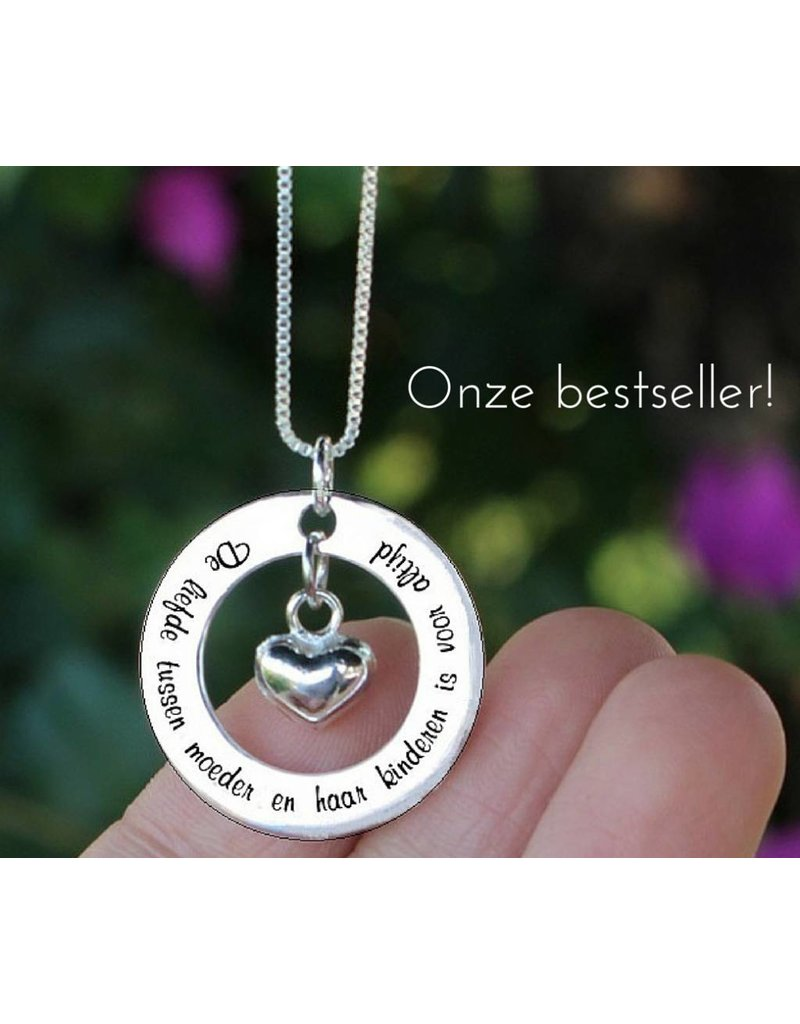 "KAYA sieraden Silver necklace ""My mom happens to be the dearest ' - Copy"