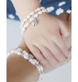 Double Mother Daughter bracelets 'Infinity' sphere center