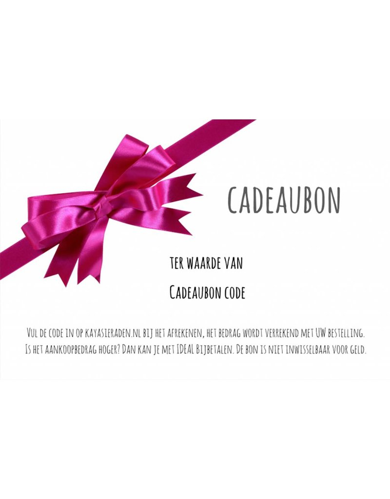 Gift certificate 15, 20, 30, 50 Euro