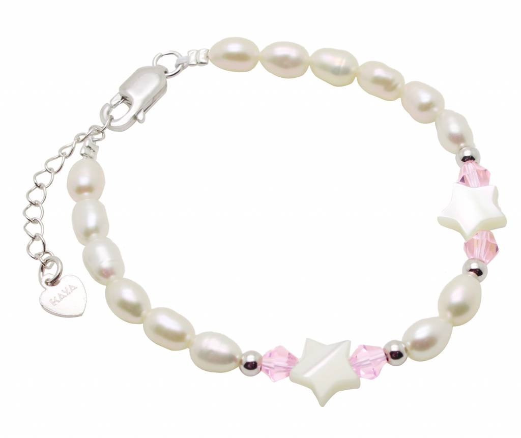 """Silver baby bracelet """"Little Star"""" without charms"""