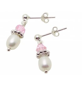 "Silver Pearl Earrings ""Little Diva"""