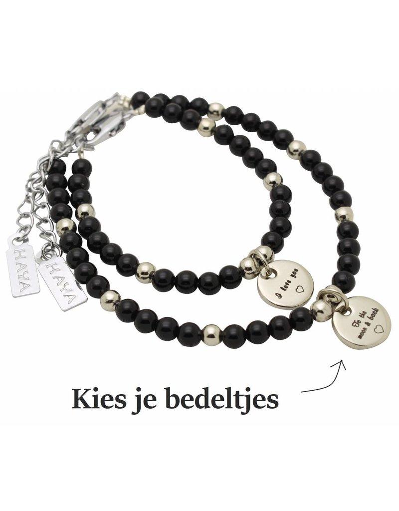 KAYA sieraden Mom & Me bracelets 'personal message'