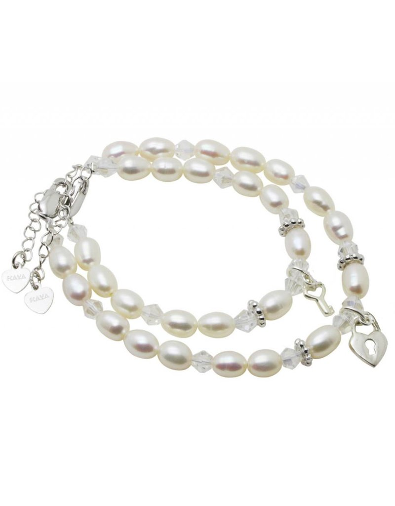KAYA sieraden Zilveren Mom & Me set 'Sparkles' key to my heart
