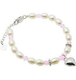 KAYA sieraden Silver bracelet children's 'Little Diva' with heart