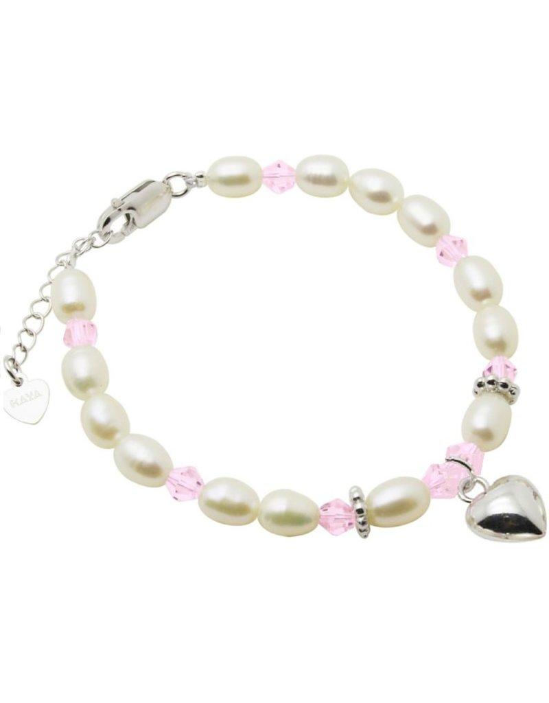 """Children's Silver Bracelet """"Little Diva"""" with Heart"""
