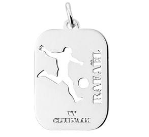 KAYA sieraden Zilveren Graveerbedel 'Voetbal'