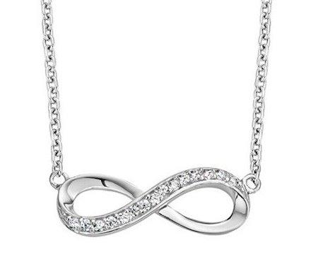 KAYA sieraden Zilveren Infinity Ketting 'Forever'