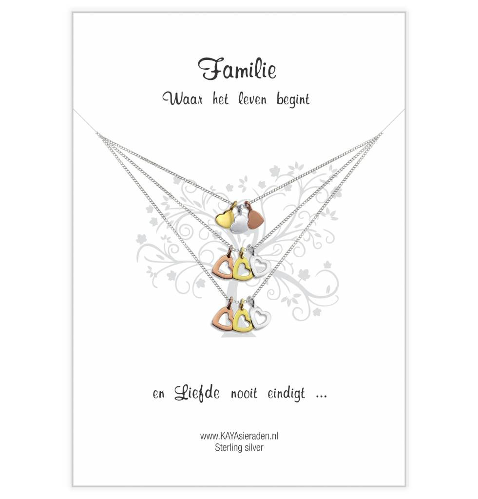 KAYA sieraden Greeting card 'three hearts generation'