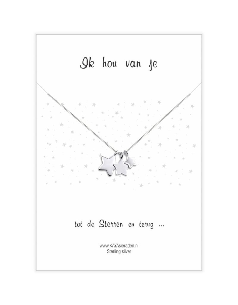"""Greeting Card """"I love you ... to the stars and back '"""