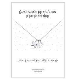 "Greeting Card ""Good friends are like stars"""