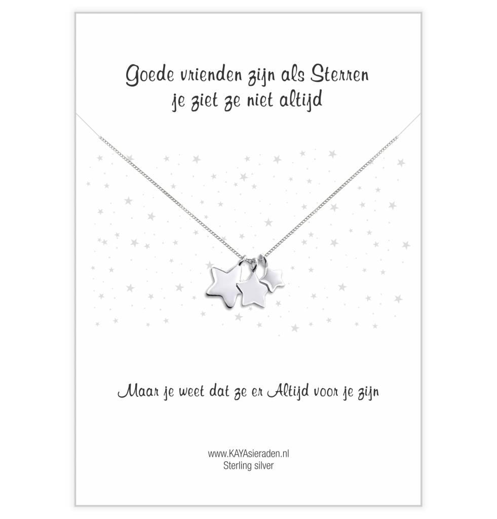 "KAYA sieraden Greeting Card ""Good friends are like stars"""