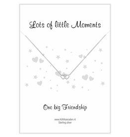 KAYA sieraden Op kaart > Wenskaart 'One big Friendship' dubbel hart