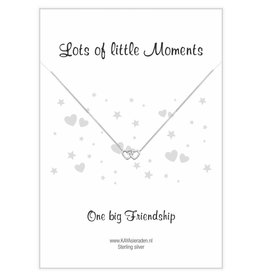 "KAYA sieraden Postcard ""One big Friendship 'double heart"
