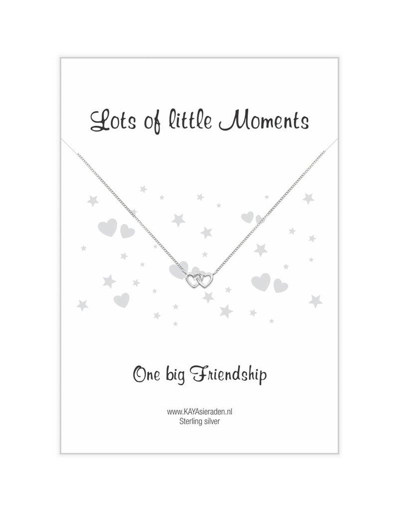 "KAYA sieraden Postcard ""One big Friendship 'double heart"
