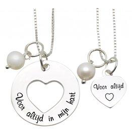 ★SALE★ Mom & me kettingen 'Voor altijd in mijn hart....voor Altijd'