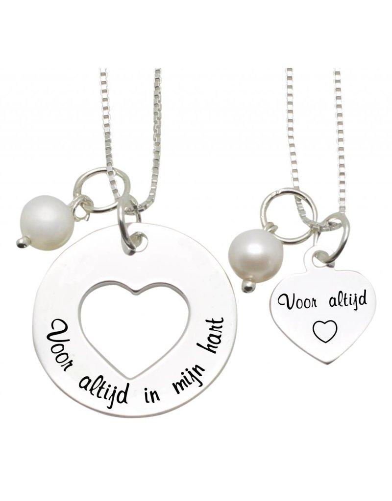 "KAYA sieraden Mom & Me chains' Forever in my heart .... For Always """