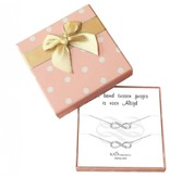 KAYA sieraden Gift Box Silver bracelets 'Infinity' Sisters