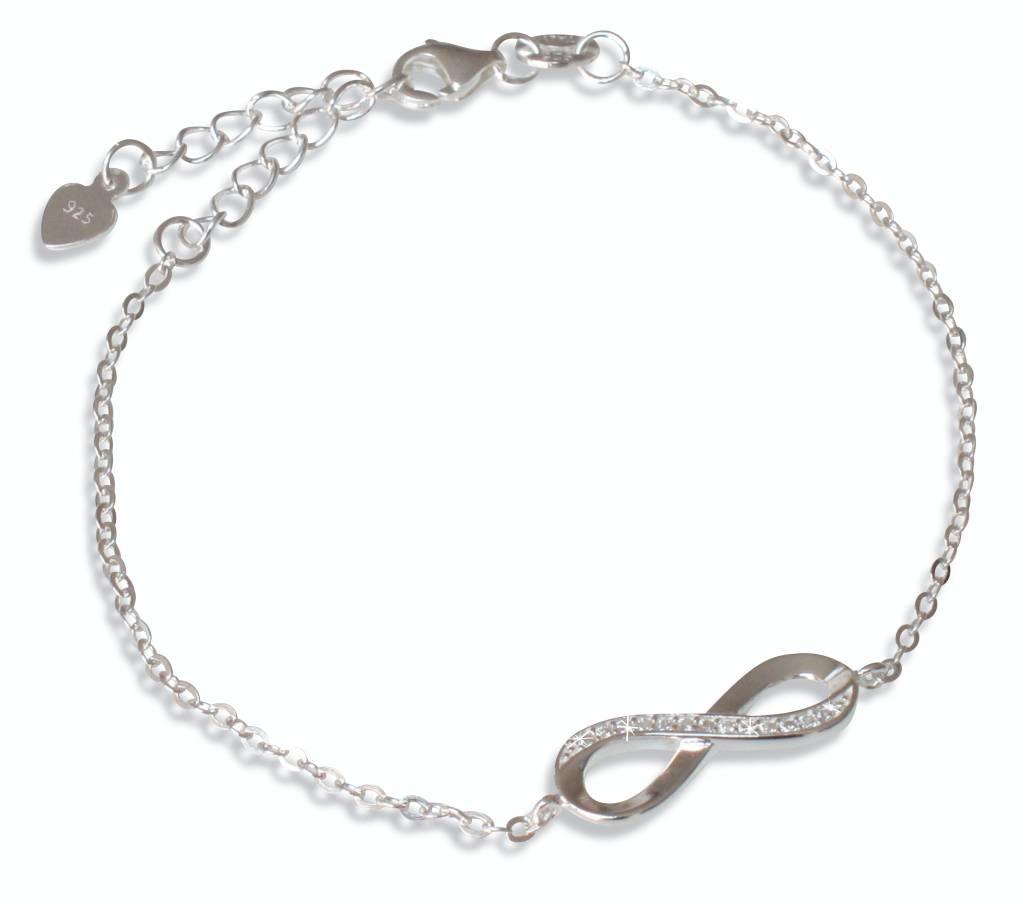 KAYA sieraden Infinity Silver Bracelet 'Necklace'