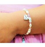 Text silver charm bracelet or necklace ★ ★ for