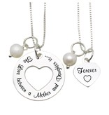 """Mom & Me necklaces """"The love between Mom & Daughter '"""