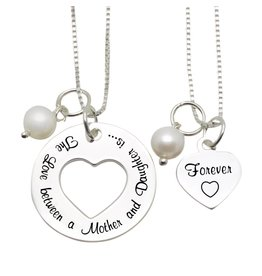 "KAYA sieraden Mom & Me necklaces ""The love between Mom & Daughter '"