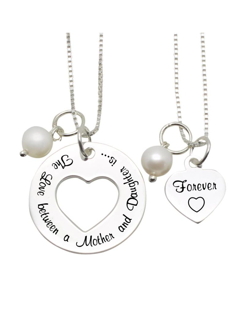 KAYA sieraden Mom & me kettingen 'The love between Mom & Daughter'