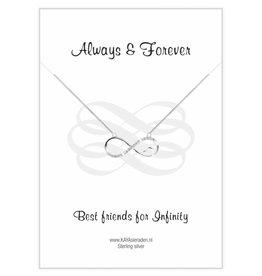 KAYA sieraden Wenskaart 'Always & Forever Best Friends'
