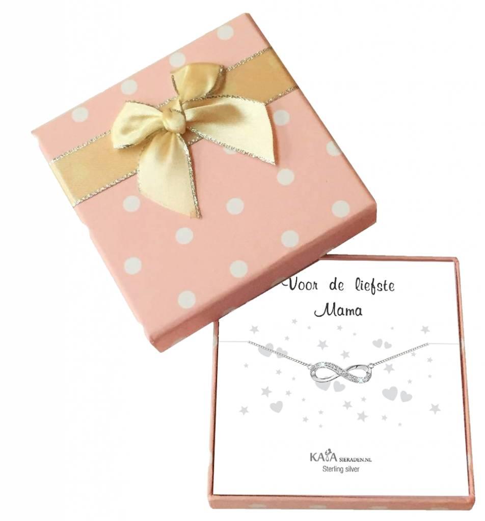 KAYA sieraden Cadeaudoosje Zilveren armbandje 'Voor de liefste Mama'