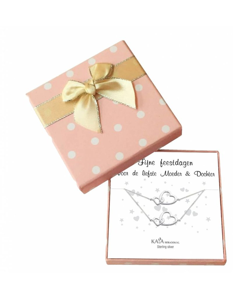 KAYA sieraden Gift box silver party bracelets 'Mother & Daughter'