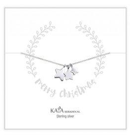 KAYA sieraden Gift box silver necklace 'Merry Christmas'