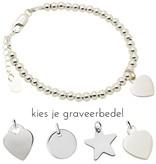 KAYA sieraden Silver bracelet 'Cute Balls'