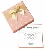 Cadeaudoosje 'Best Friends Forever' met armband Infinity Crystal