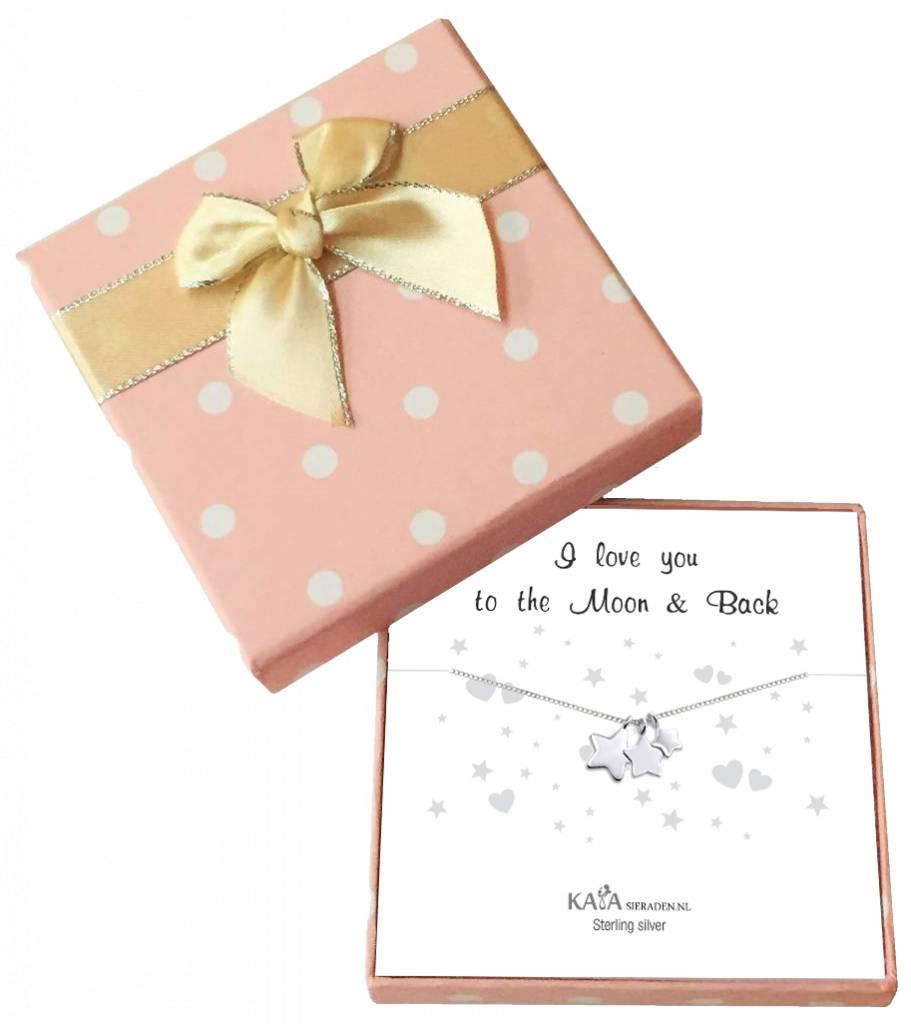 KAYA sieraden Gift box silver necklace 'Merry Christmas' - Copy