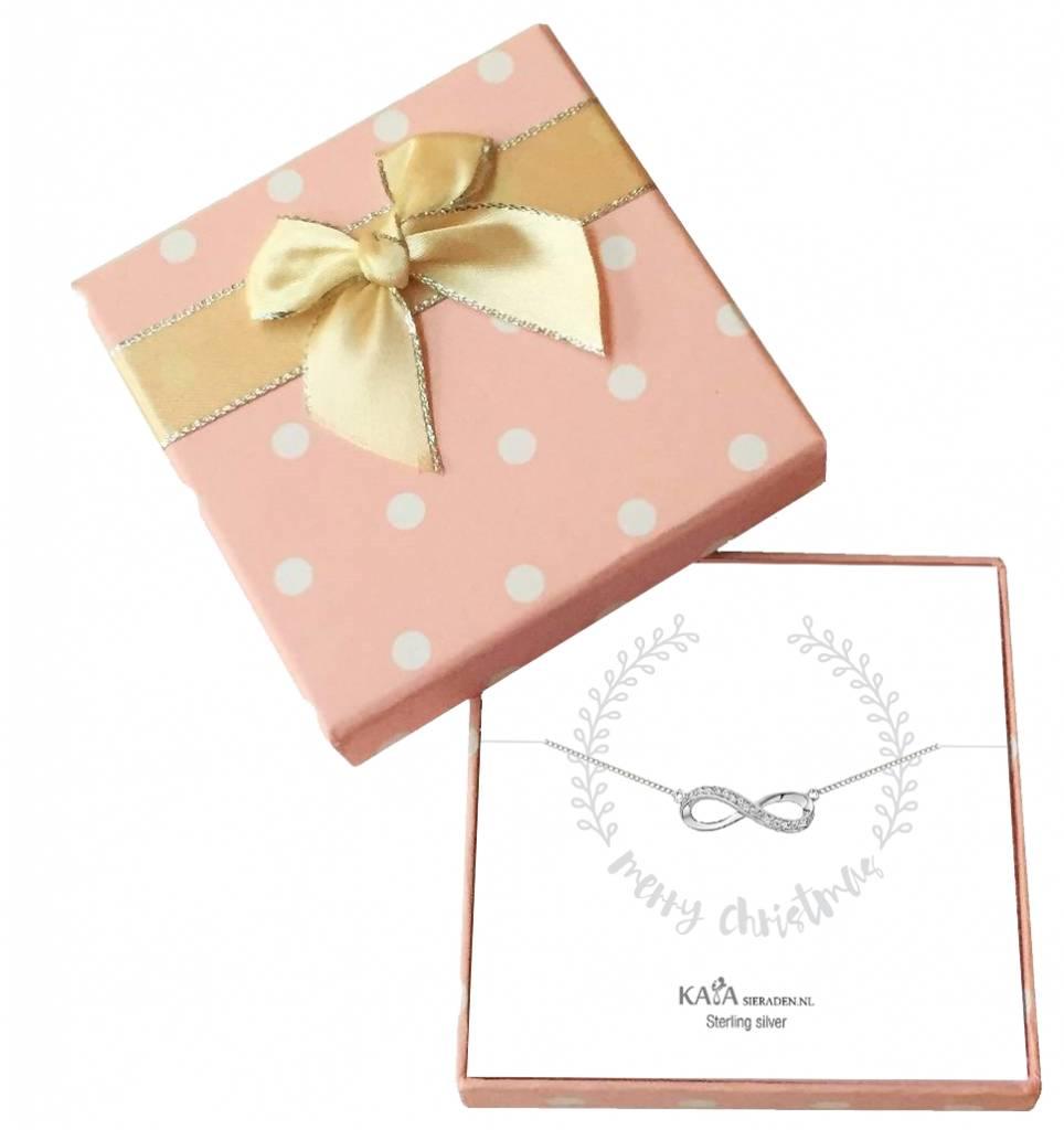 KAYA sieraden Cadeaudoosje Zilveren armbandje 'Merry Christmas'