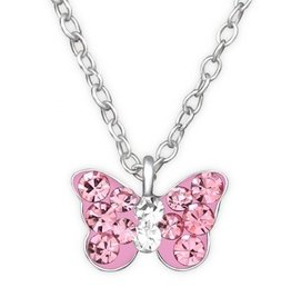 Kinderketting 'Pink Butterfly'
