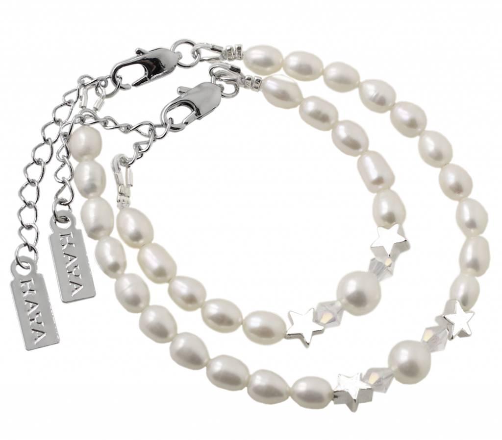 KAYA sieraden Children bracelet 'Little rounds' with heart - Copy