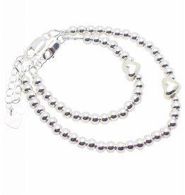 KAYA sieraden Silver bracelets set 'Cute Balls' with heart