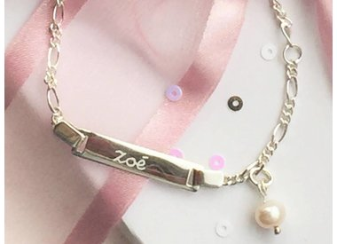children's jewelry with engraving (silver)