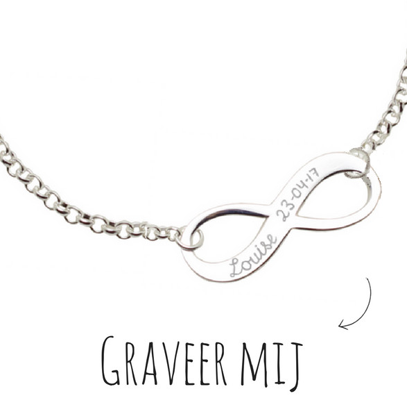 Infinity Silver kids necklace 'Forever'