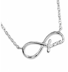 Silver necklace 'Forever'