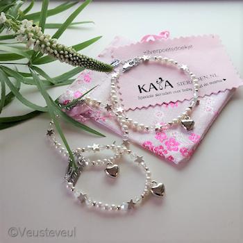 """KAYA sieraden baby bracelet """"Shine Bright 'White"""