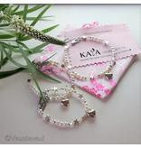KAYA sieraden kinder armbandje 'Shine Bright' voorletter