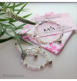 KAYA sieraden 3 generation bracelets 'Shine Bright' with heart