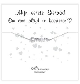 "KAYA sieraden Silver baby bracelet ""follow your dreams"" - Copy - Copy"